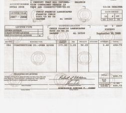 Business license for Al fishing license
